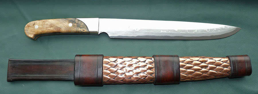 Hand made custom knives hand forged blades top grade exotic